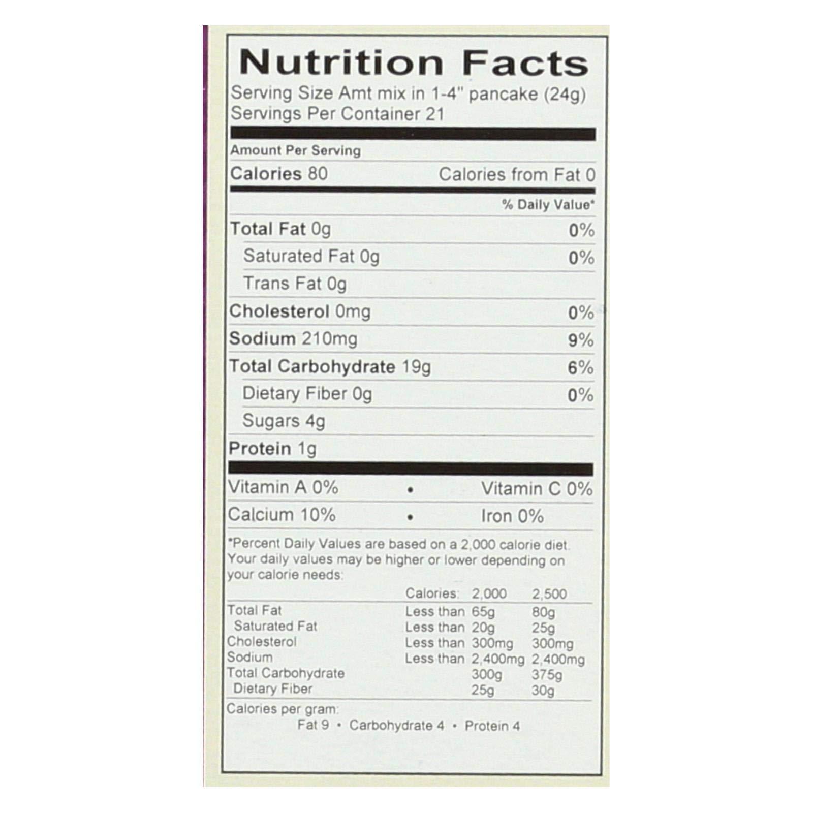 Cherrybrook Kitchen Gluten Free Pancake & Waffle Mix, 18 oz (Pack of 6) by Cherrybrook Kitchen (Image #1)
