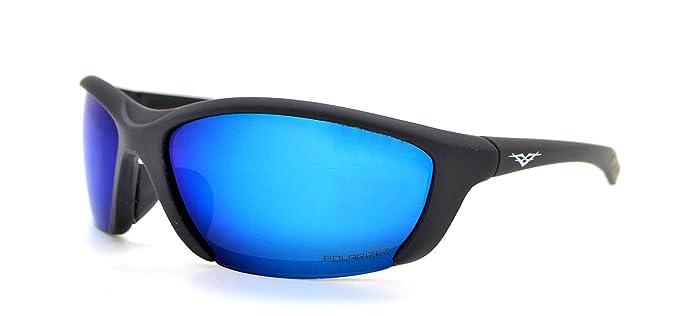 Vertx leggero durevole da uomo e da donna Athletic sport Wrap occhiali da ciclismo da corsa W/free custodia in microfibra Gray/Black Frame - Blue Lens SKzGjq
