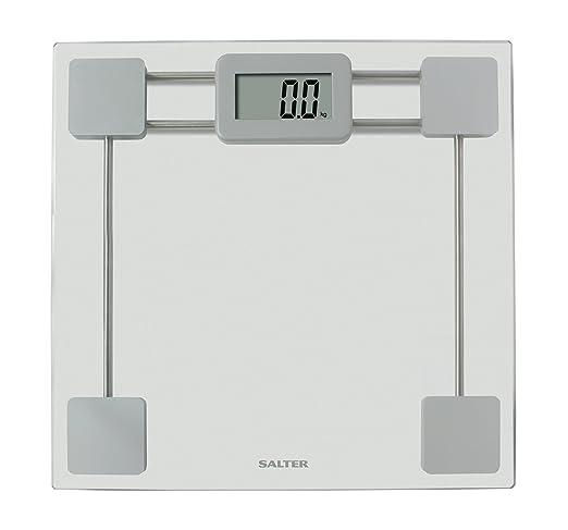Salter 9082 SV3R Escala electrónica de peso en vidrio templado, Pantalla de fácil lectura, 15 años de garantía, capacidad 180 kg, transparente: Amazon.es: ...