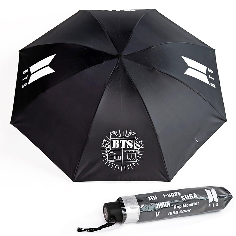 JUNG KOOK 64cm 8K Kpop BTS 傘 ジミン V アーミー パラソル レインギア ギフト お土産 64cm/8K BTS B07G2WZMG1