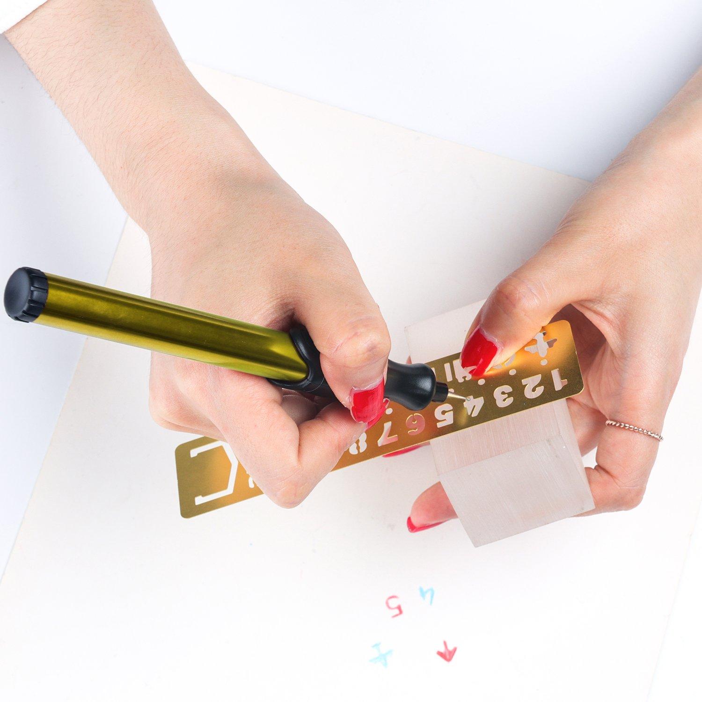 Penna per Incisione Cordless Elettrico Strumenti per Incisione Creativo Pratico intagliare Strumento incisore a Mano per Fai da Te Ceramica Metallo Gioielli Vetro