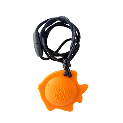 chubuddy Chewable Fish Pendant Chewie, Non-Toxic Material-Terra Cotta: Health & Personal Care