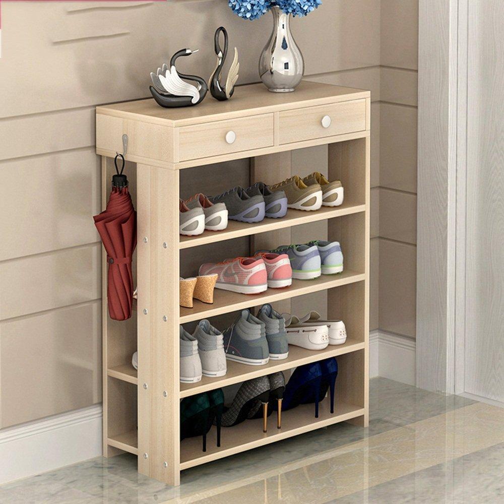 EIDUOシューズラック 靴ラック5層MDFストレージシェルフと引き出しL60 * W24 * H78.5cm 3色から選択する 自宅に適しています (色 : 2) B07DK7CQT3 2