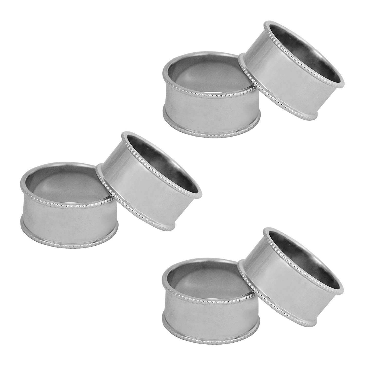 ITOS365 Handmade Napkin Rings Holder for Dinning Table Parties Everyday, Set of 6   B01LYFFG4Z