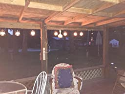Amazon.com : Patio String Lights Oil Lantern Style Indoor Outdoor : Outdoor Lightstrings : Patio ...