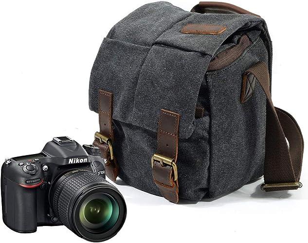 Bolsa para cámaras DSLR, FotografíA Retro Impermeable Lona ...
