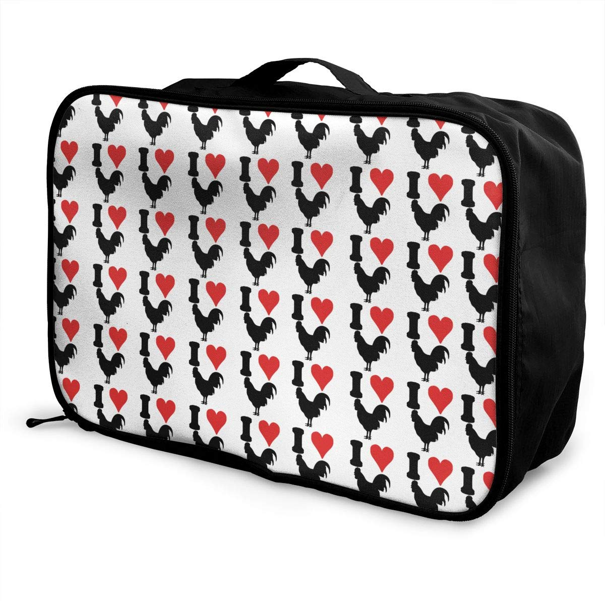 Women /& Men Foldable Travel Duffel Bag I Love Cock Chicken For Luggage Gym Sports
