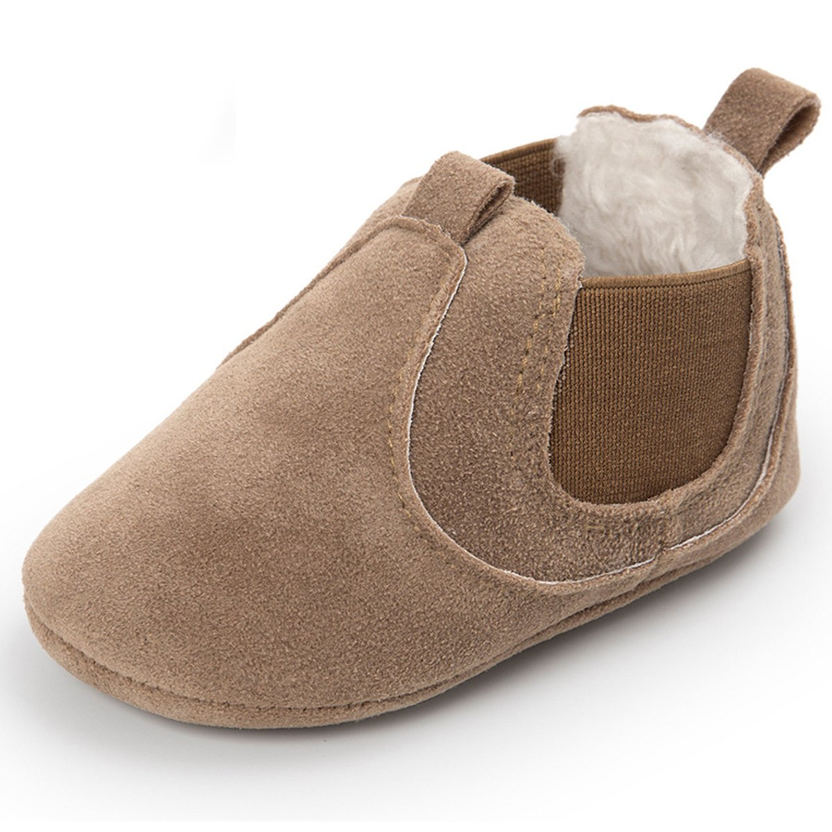 Sabe Baby Girls Soft Leather Sole Hi-Top Booties Non-Slip Moccasin First Walking Shoes 0-18 Months Prewalkers 5288