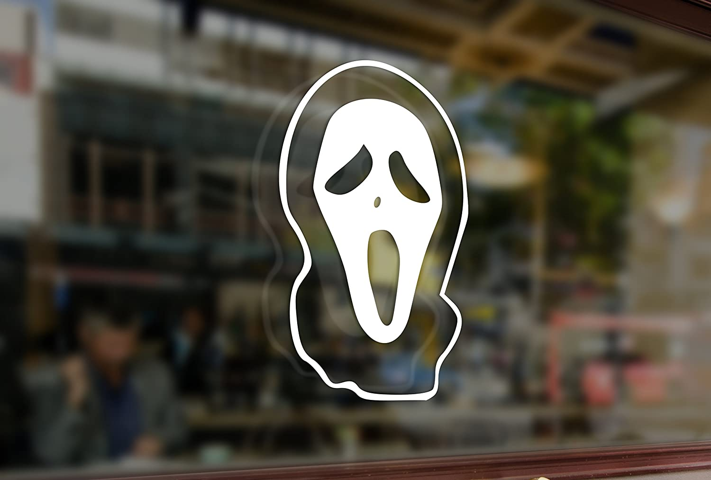 horror scream ghostface decal sticker window wall laptop door room