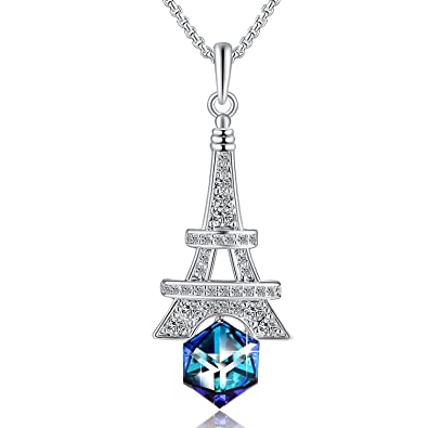 Amazon plato h march birthstone eiffel tower pendant necklace plato h march birthstone eiffel tower pendant necklace with swarovski cube crystal heart of ocean aloadofball Image collections