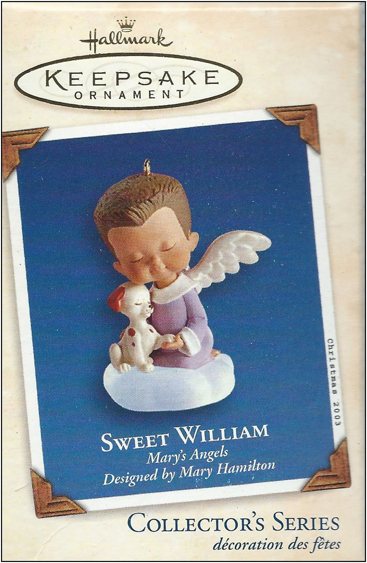 2003 Sweet William Mary's Angels Collector's Series 16th in Series Hallmark QX8119