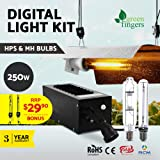 250w Grow Lights-Greenfingers LED Plant Grow Lights with Cool Tube Reflector Magnetic Ballast Rope Ratchet Lights for Indoor Plants Hydroponics Greenhouse Seedling Veg and Flower
