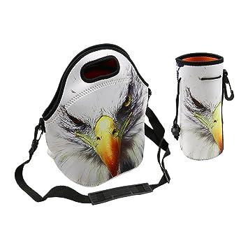 amerzam amerzam neopreno bolsa para el almuerzo con aislamiento térmico de picnic reutilizable Carrying Gourmet cajas de almuerzo Bolsas con correa para el ...