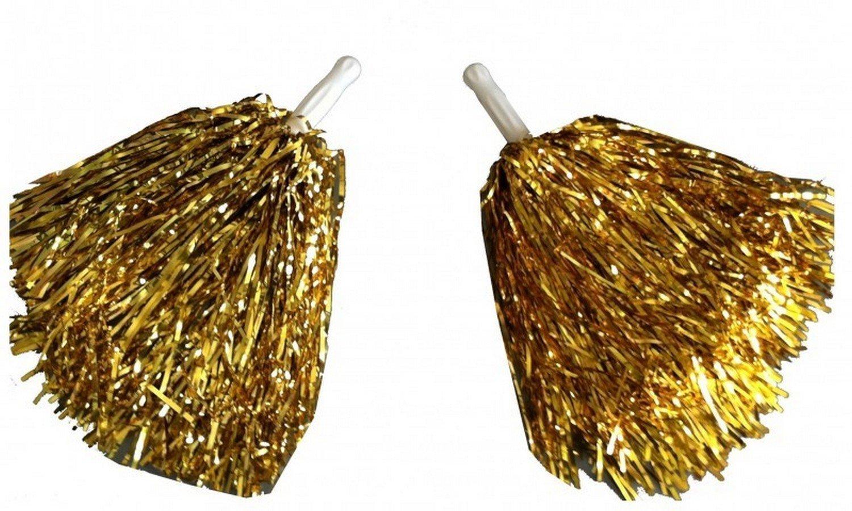 Paar Tanzwedel Pompon Cheerleader Puschel funkelnd gold Tanzen Wibel GmbH
