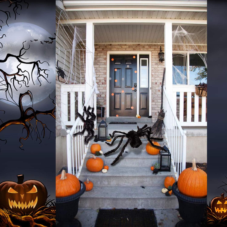 ENDIESS Halloween Decorations Outdoor Giant Spider 4.1ft