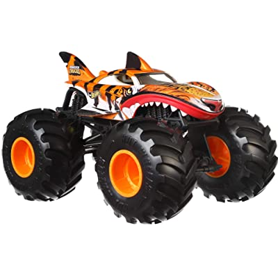 Hot Wheels Tiger Shark Monster Truck, 1:24 Scale: Toys & Games