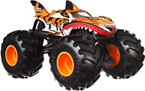 Hot Wheels Tiger Shark Monster Truck, 1:24 Scale
