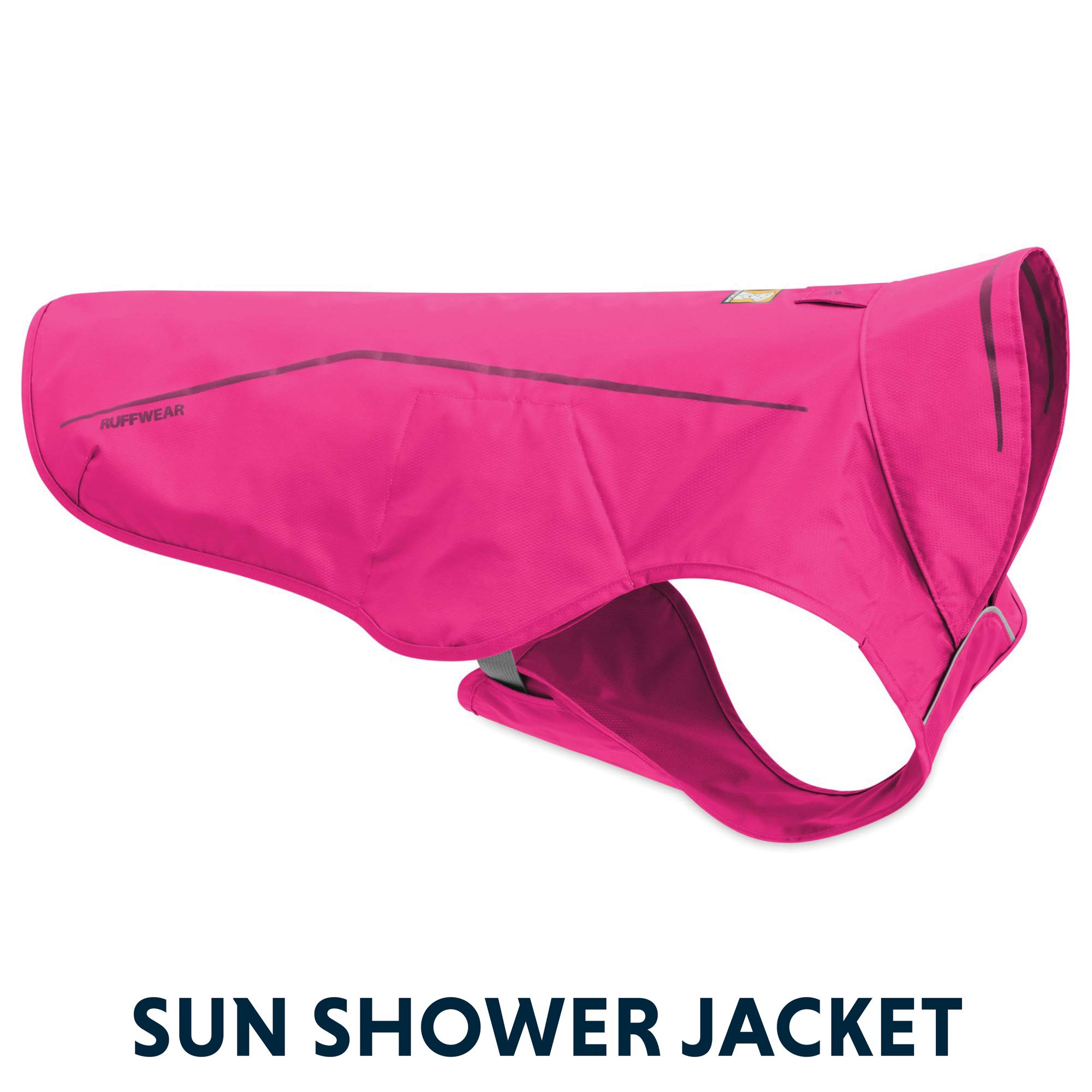 RUFFWEAR - Sun Shower Lightweight Waterproof Rain Jacket for Dogs, Alpenglow Pink, Medium by RUFFWEAR