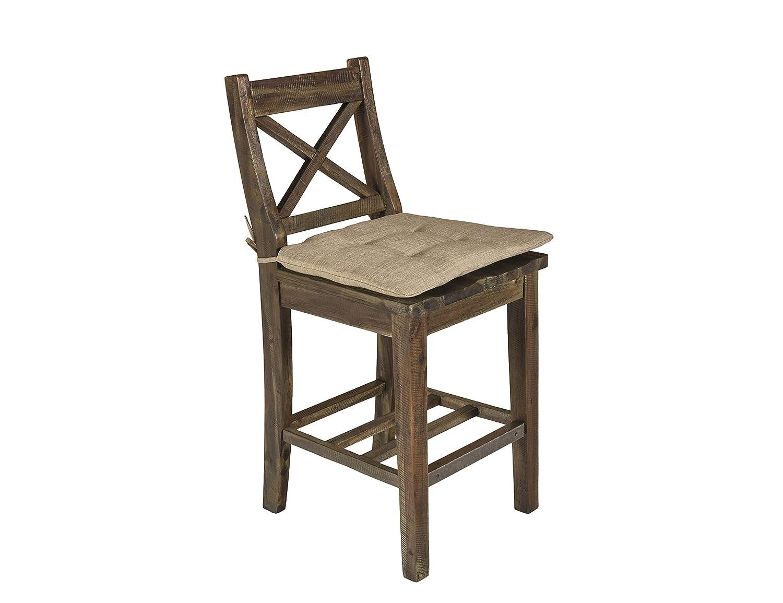 Amazon.com: Juego de 2 sillas clásicas con cojín, diseño de ...