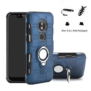 LFDZ Moto G7 Power Anillo Soporte Funda, 360 Grados Giratorio Ring Grip con Gel TPU Case Carcasa Fundas para Motorola Moto G7 Power Smartphone(Not fit ...