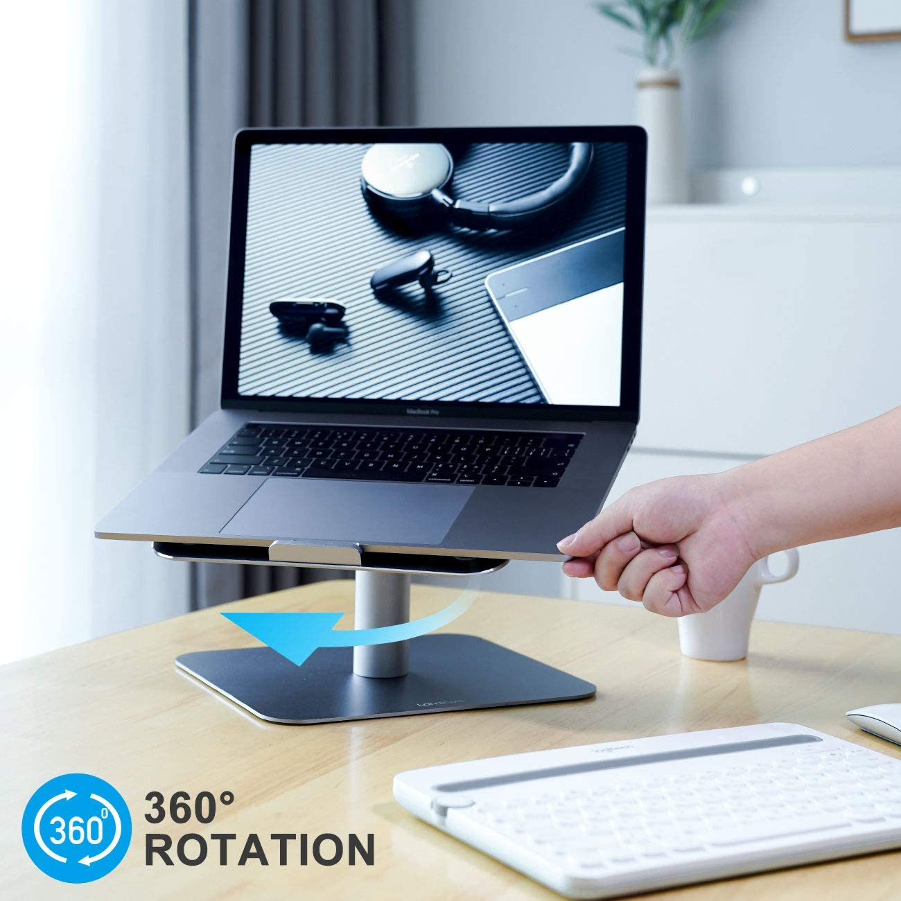 Air Dell XPS 10-17 Adjustable Laptop Stand Mac HP Pro Lamicall Laptop Riser : Multi-Angle Height Adjustable 360/°Rotation Computer Notebook Stand Desktop Holder Compatible with Apple MacBook