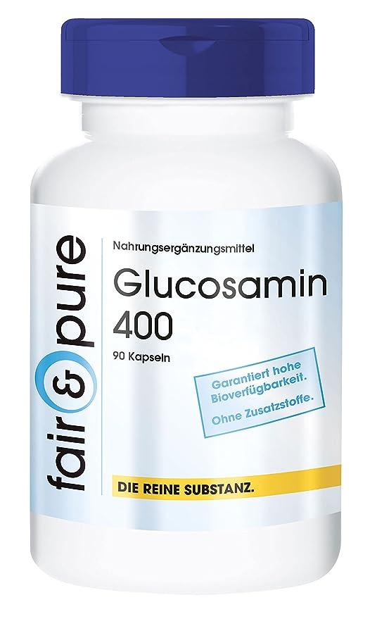 Glucosamin 400 - 90 cápsulas vegetarianas de glucosamina con colágeno hidrolizado (250 mg) -