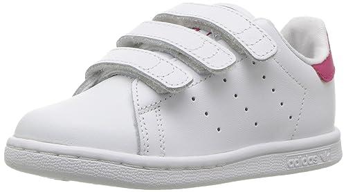 the best attitude 2bda2 1decb adidas Originals Girls  Stan Smith CF I Running Shoe, White Bold Pink,