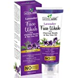 Mystic Lush Lavender Face Wash with Charcoal Beads & Tea Tree Oil For Acne Protection, Prevents Ageing, Skin Irritation, Oil Control and Pollution Defense - 100ML (No Parabens, Sulphate & Silicone)