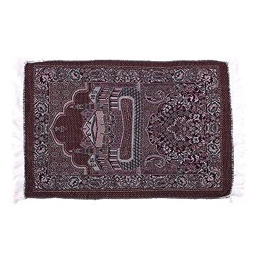 kicode prire musulmane tapis velours tissu pais classique islam mat tapis turc multicolore salat islamique - Tapis Turc