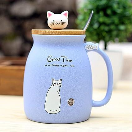Gatto mirò il cartone animato con il gatto blu per bambini