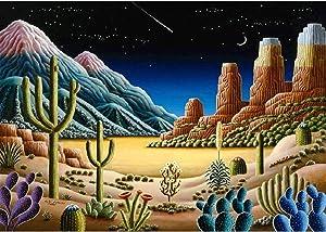 DIY 5D Diamond Painting Kit, Desert Cactus Full Diamond Embroidery Rhinestone Cross Stitch Arts Craft Supply for Home Wall Decor 11.8x15.8 inch