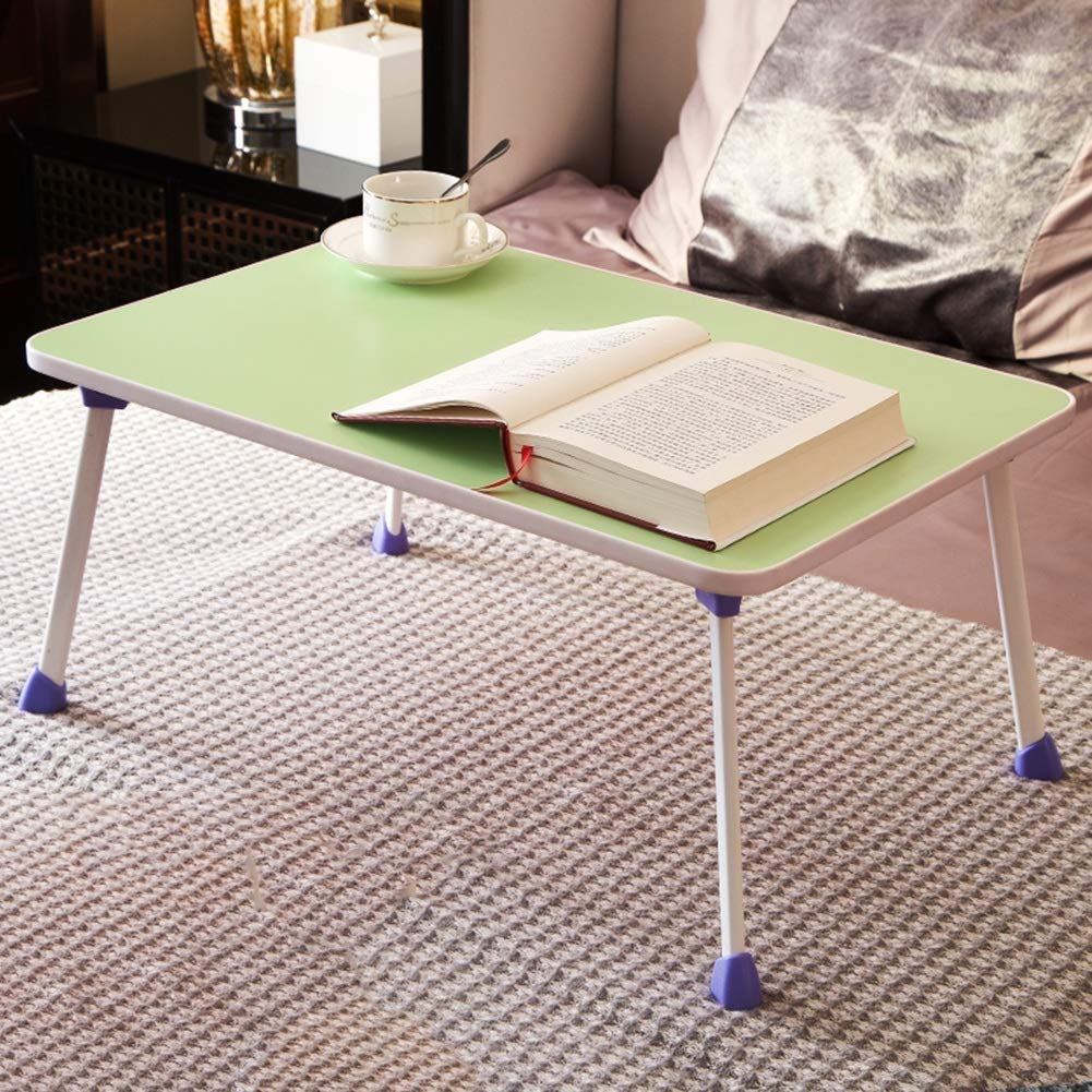 Foldable Bed Lazy Table Small Laptop Desk Breakfast Serving Tray Portable Sturdy Durable, 3 Colors GAOFENG (Color : Green, Size : 60x40x28cm) by GAOFENG-Folding Table (Image #3)