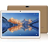 YOTOPT 10.1 Pouces Tablette Tactile - 3G/WiFi, Android 7.0 , Quad Core, 16 Go, 2 Go de RAM, Doule SIM, Bluetooth, GPS, OTG - Or
