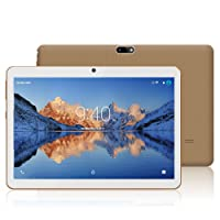 YOTOPT 10.1 Pouces Tablette Tactile - 3G/WiFi, Android 7.0 , Quad Core, 16 Go, 2 Go de RAM, Doule SIM, Bluetooth, GPS, OTG) - Or