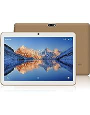 Tablets 10.1 Pulgadas Android 7.0 YOTOPT, Quad Core, 2GB de RAM, 16 GB de Memoria Interna, 3G Tablet, Dual SIM, WiFi/ Bluetooth/GPS/OTG - Oro