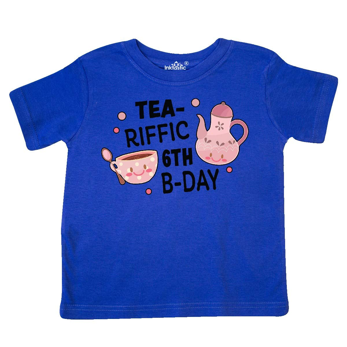 inktastic Tea-riffic 6th Birthday with Teacup and Pot Toddler T-Shirt