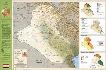 Amazon.com: Land Use, Map of Iraq. Ancillary maps: Land use ...