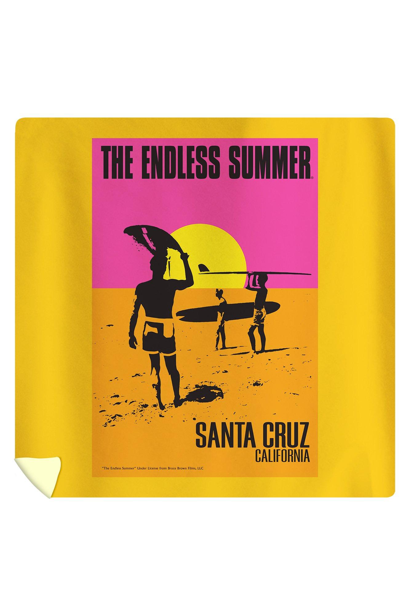 Santa Cruz, California - The Endless Summer - Original Movie Poster (88x88 Queen Microfiber Duvet Cover)