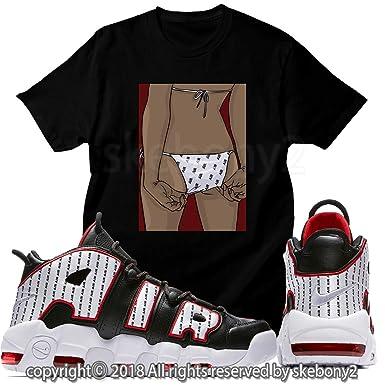 reputable site 9cbc9 4b90c Custom T Shirt Matching T Shirt Air More Uptempo Pinstripe UTP 1-37-10