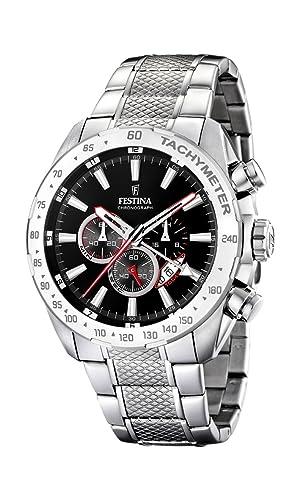 FESTINA Chrono F16488/5 - Reloj de Caballero de Cuarzo, Correa de Acero Inoxidable Color Plata: Festina: Amazon.es: Relojes