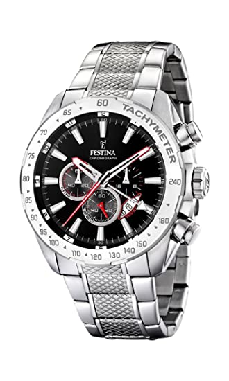 41ed42fe5 Festina Men's Chronograph Quartz Watch with Stainless Steel Strap F16488/5:  Festina: Amazon.co.uk: Watches