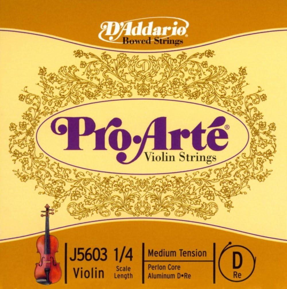 1//16 Scale Medium Tension DAddario Pro-Arte Violin Single D String