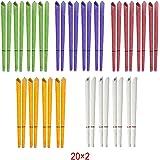 Incutex 40 candele orecchie candele auricolari hopi con colori e profumi diversi