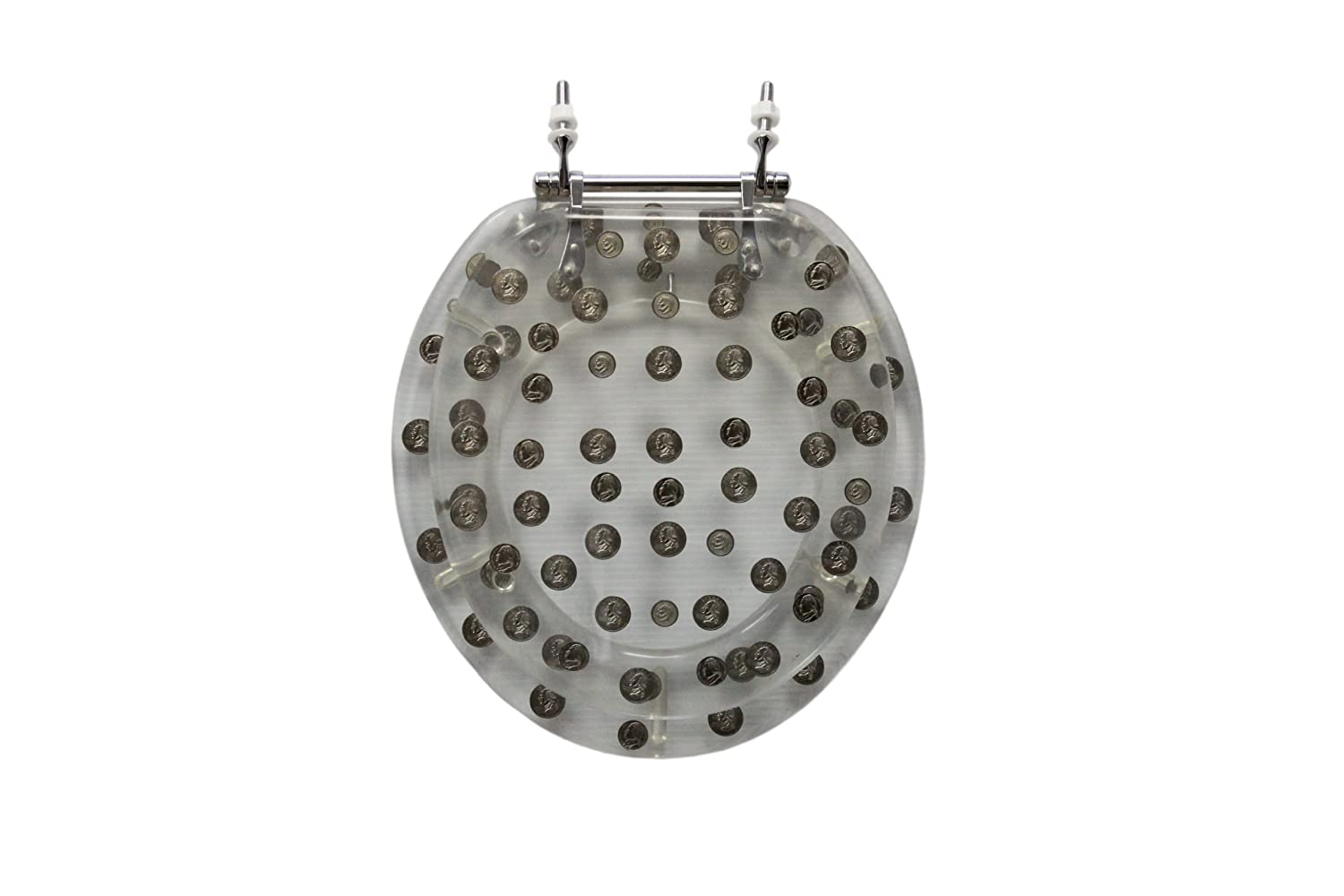 Trimmer Polyresin Toilet Seats With Replica Coins