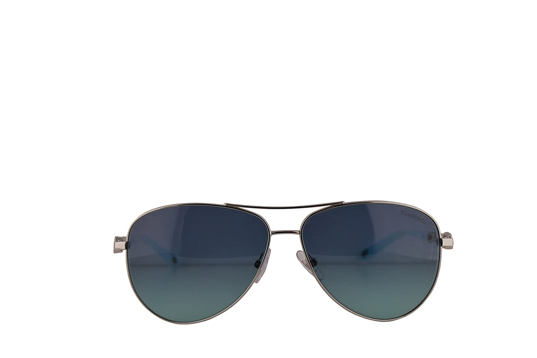 41e4a49e13a0 Amazon.com: Tiffany & Co. TF3049B Sunglasses Silver w/Blue Gradient Lens  58mm 60019S TF3049-B Tiffany&Co. TF 3049B TF 3049-B: Clothing