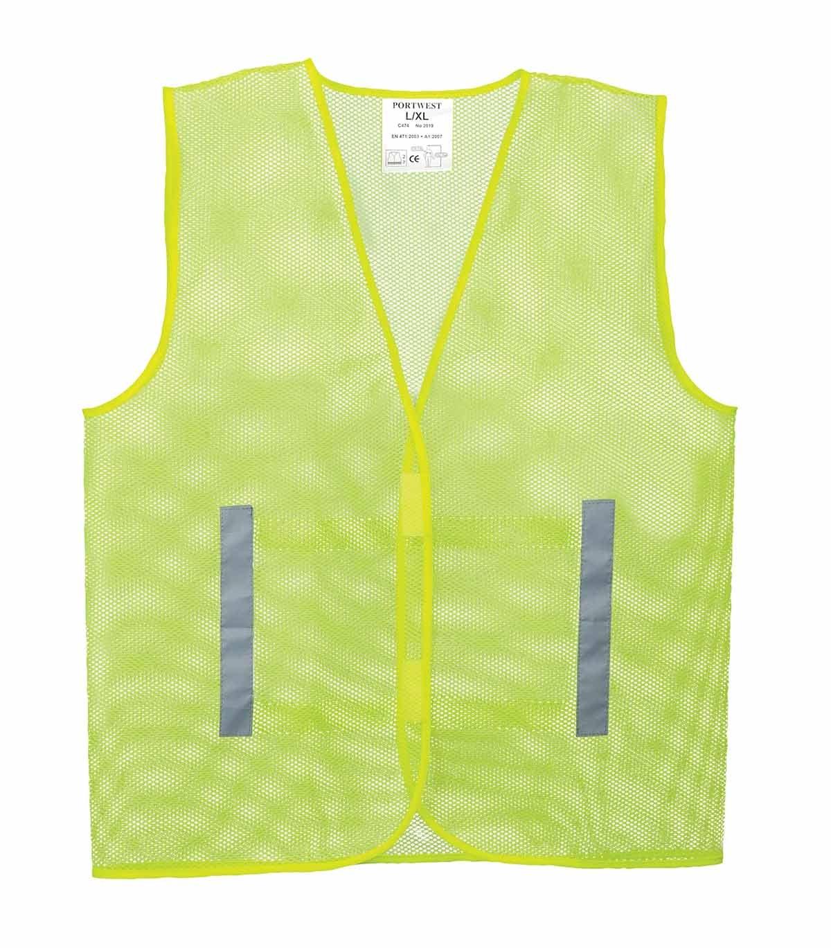 XX-Large//3X-Large Regular Portwest C171YERXX//3X Mesh Vest Yellow