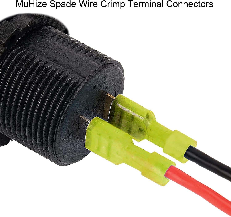 240PCS ELECTRICAL WIRE TERMINALS ASSORTMENT SET INSULATED CRIMP CONNECTORS SPADE