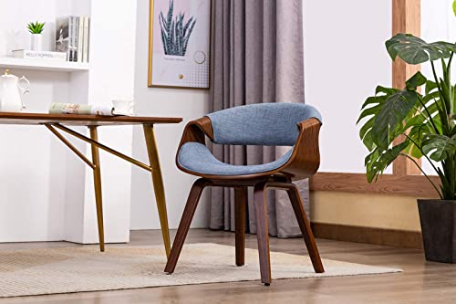 Porthos Home Living Room Chair With Fabric upholstery and Wooden Legs Mid-Century StyleVarious Colors , One Size, Blue