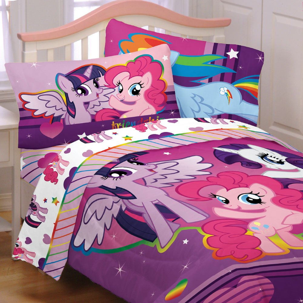 Pony Bedroom Accessories Amazoncom My Little Pony 5pc Full Comforter And Sheet Set