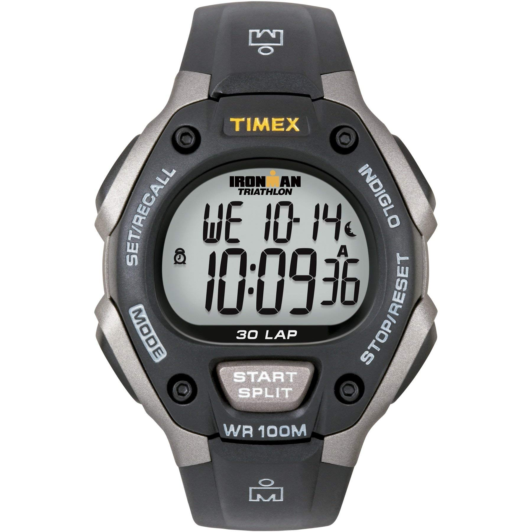 Timex Men's T5E901 Ironman Classic 30 Gray/Black Resin Strap Watch by Timex
